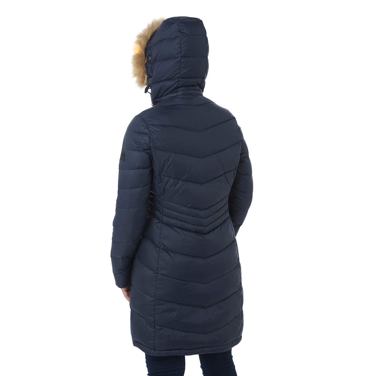 Buffy Womens Down Jacket - Navy image 4