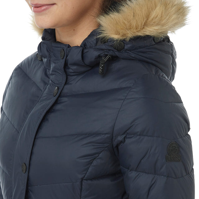 Buffy Womens Down Jacket - Navy image 5