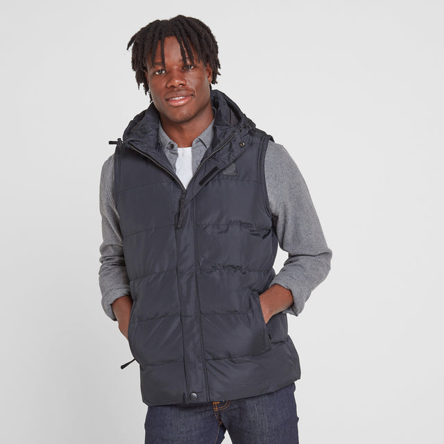 Caliber Mens Insulated Gilet - Black image 1