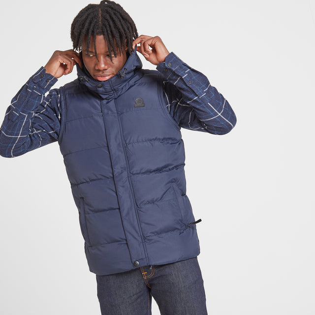 Caliber Mens Insulated Gilet - Navy image 2