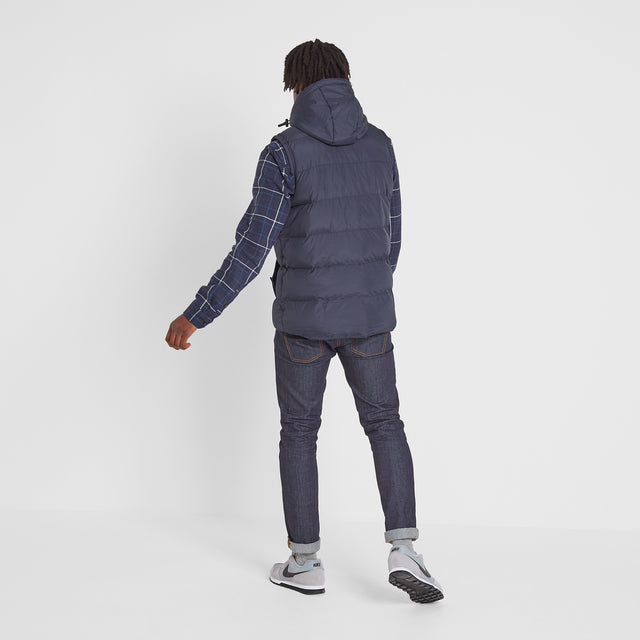 Caliber Mens Insulated Gilet - Navy image 3