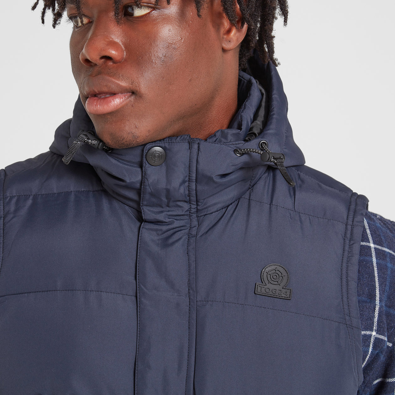Caliber Mens Insulated Gilet - Navy image 4