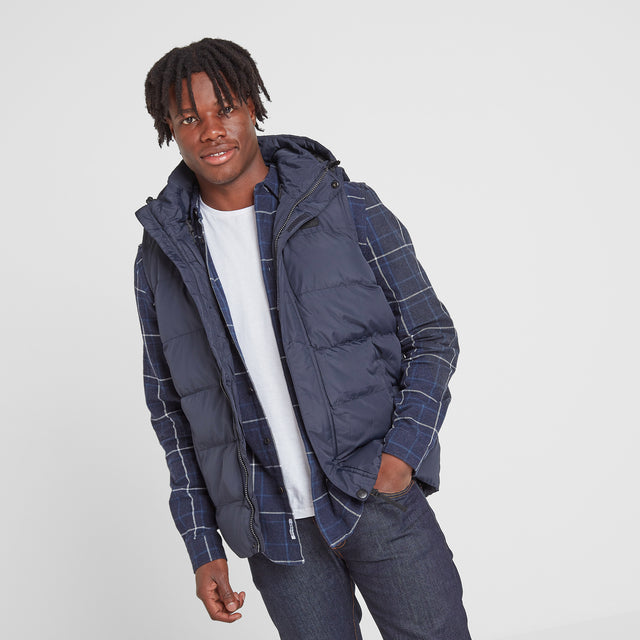Caliber Mens Insulated Gilet - Navy image 1
