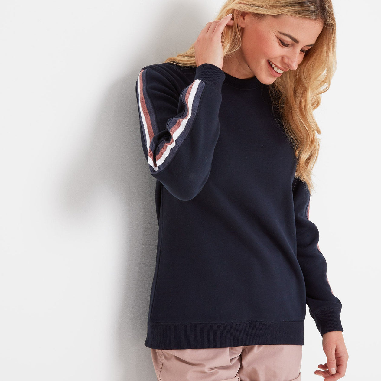 Carmen Womens Crew Neck Jumper - Dark Indigo image 4