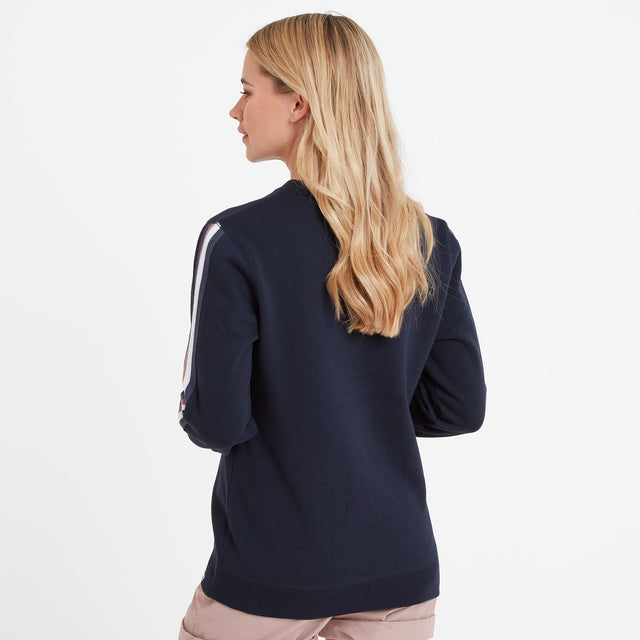 Carmen Womens Crew Neck Jumper - Dark Indigo image 3