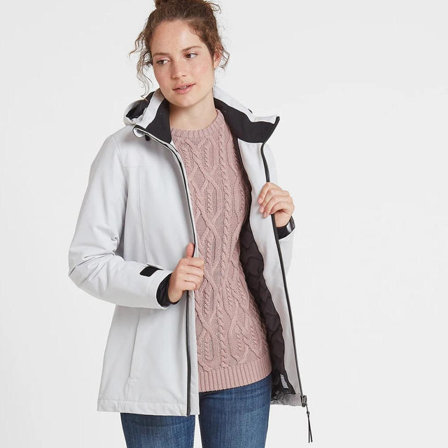 Cawood Womens Winter Jacket - Ice Grey image 2
