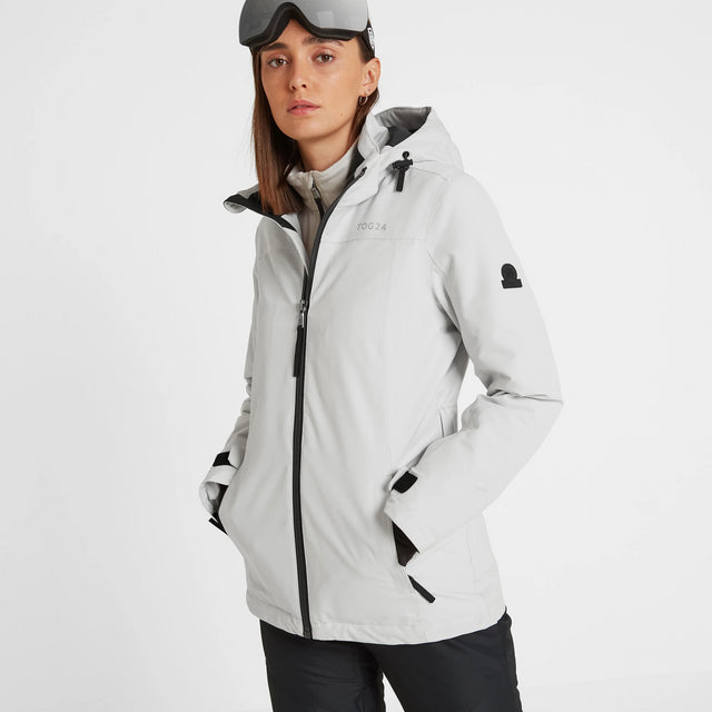 Cawood Womens Ski Jacket - Ice Grey image 3