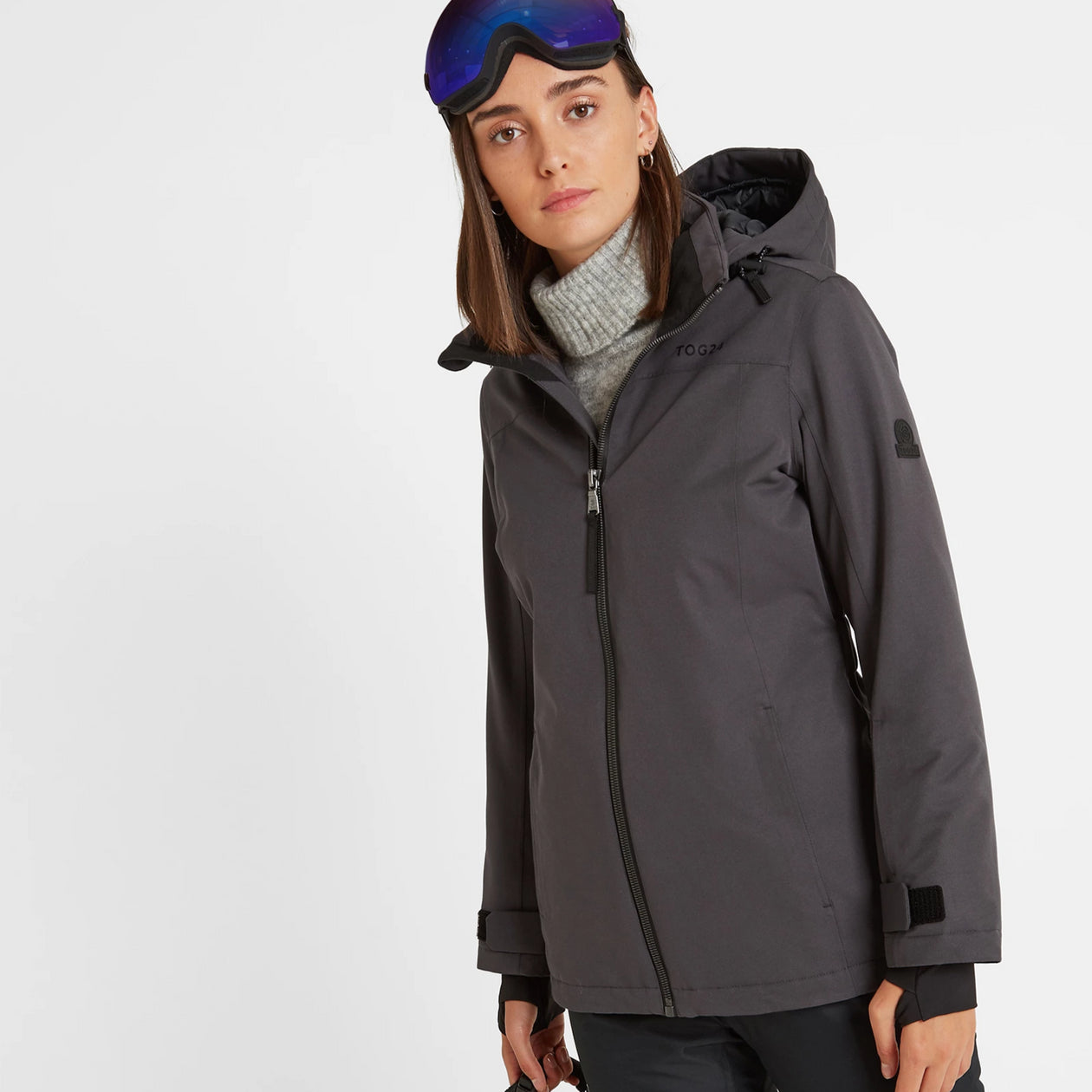 Cawood Womens Ski Jacket - Coal Grey image 4