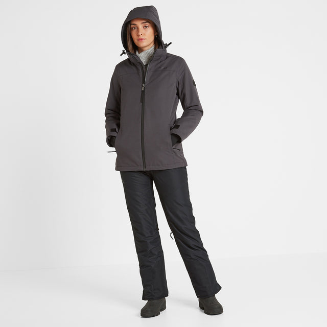 Cawood Womens Ski Jacket - Coal Grey image 3