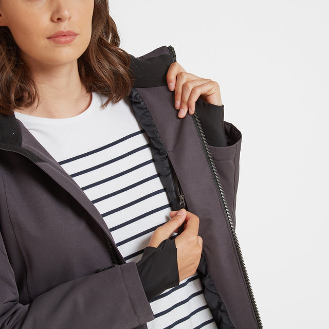 Cawood Womens Winter Jacket - Coal Grey image 5