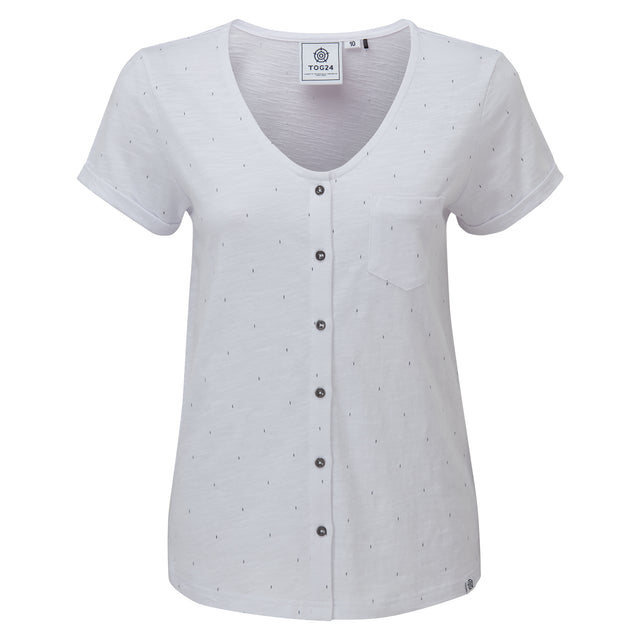 Cayton Womens Dot Print T-Shirt - Optic White image 3