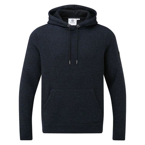 Chilton Mens Knitlook Fleece Hood - Dark Indigo Marl