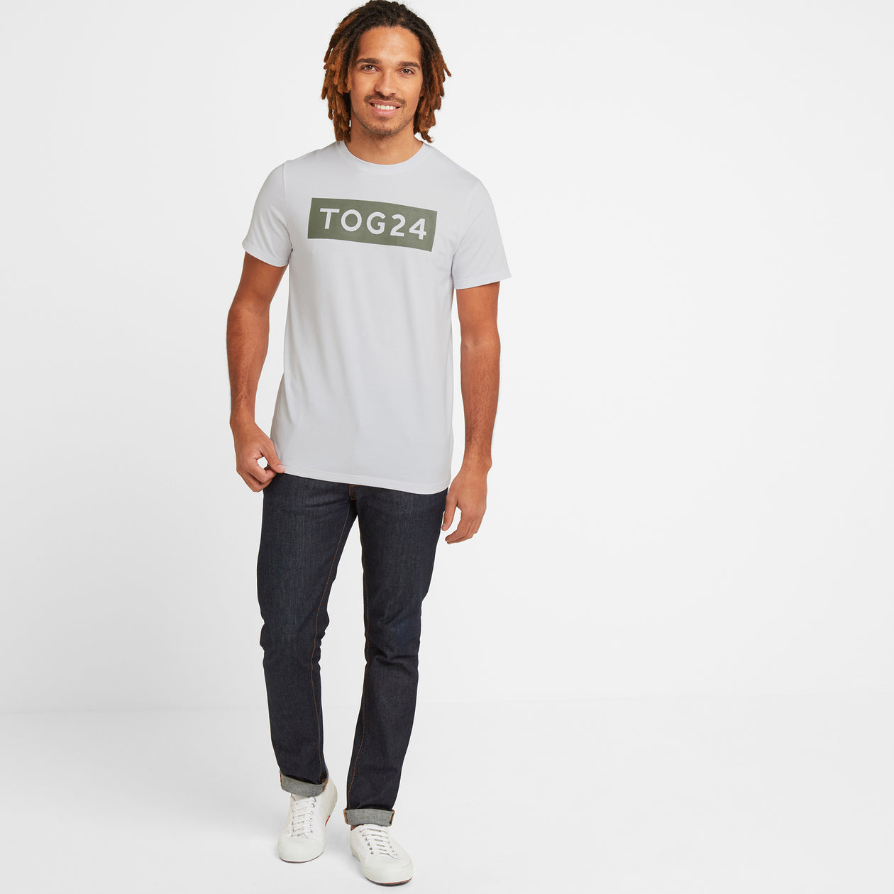 Churwell Mens Tech T-Shirt - Optic White image 4