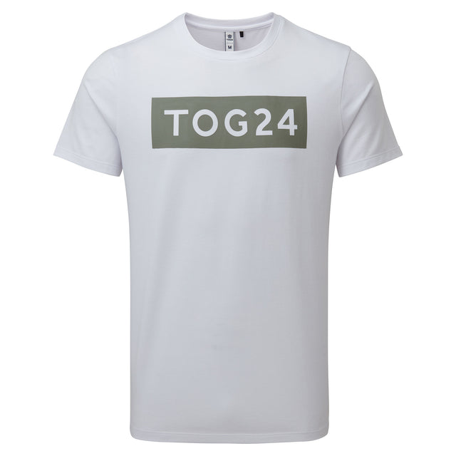 Churwell Mens Tech T-Shirt - Optic White image 3
