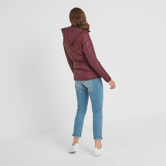Clancy Womens TCZ Thermal Jacket - Deep Port image 3