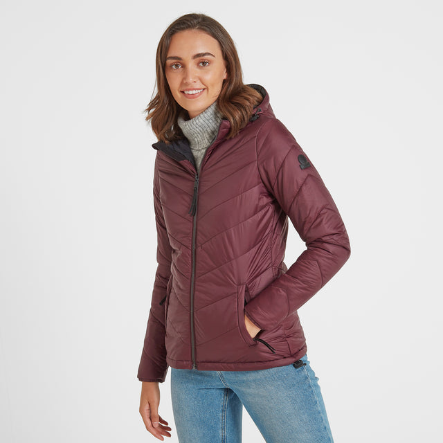 Clancy Womens TCZ Thermal Jacket - Deep Port image 1
