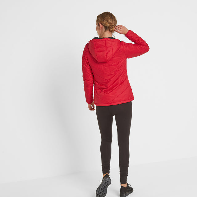 Clancy Womens TCZ Thermal Jacket - Rouge Red image 2