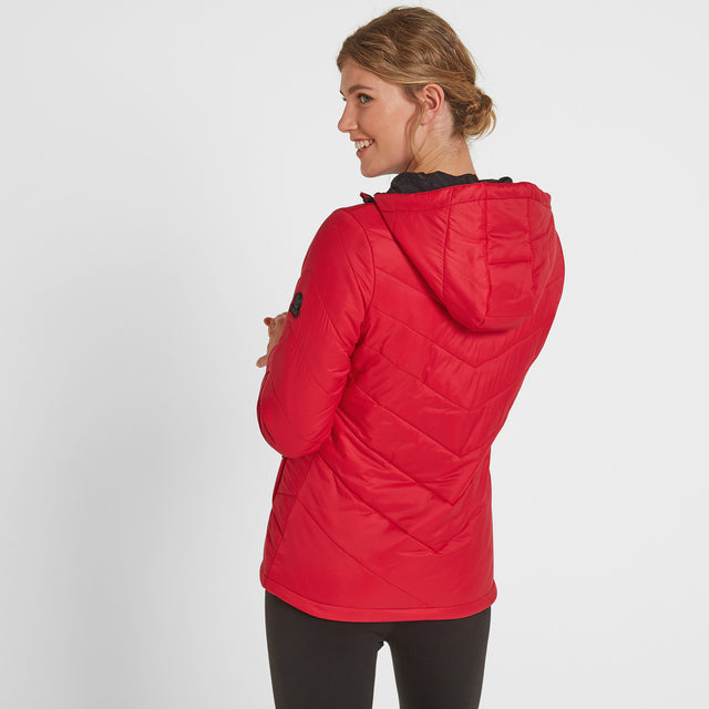Clancy Womens TCZ Thermal Jacket - Rouge Red image 3