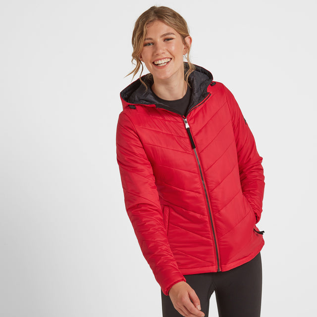 Clancy Womens TCZ Thermal Jacket - Rouge Red image 1