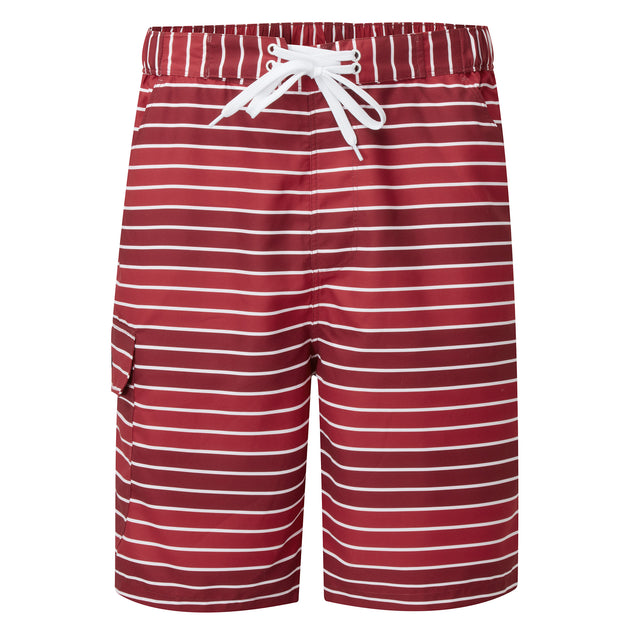 Cole Mens Stripe Board Shorts - Rio Red image 5