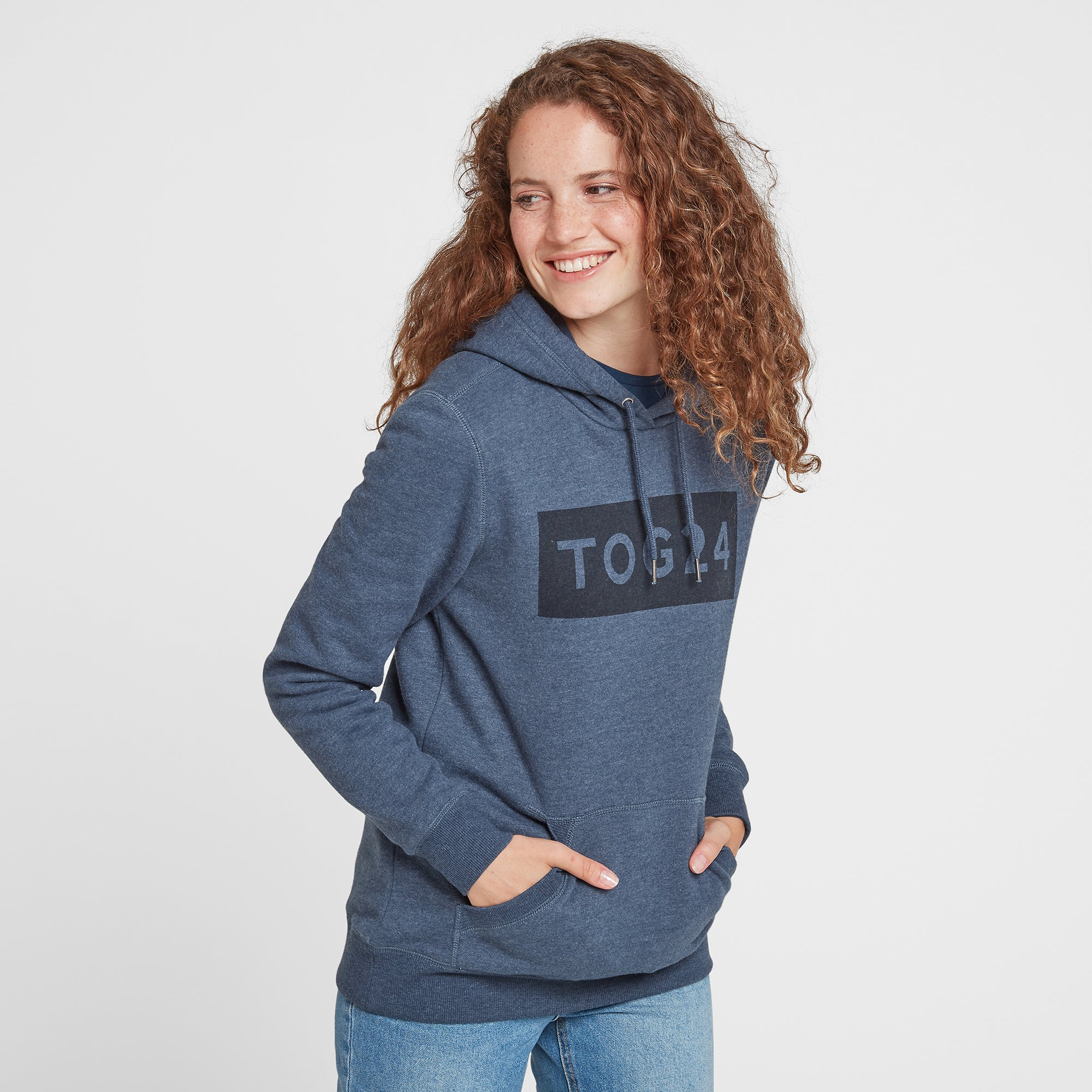 Cora Womens Hoody Tog24 Print - Atlantic Blue Marl
