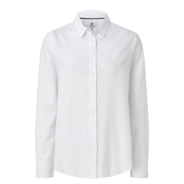 Corsham Womens Long Sleeve Shirt - Optic White image 3