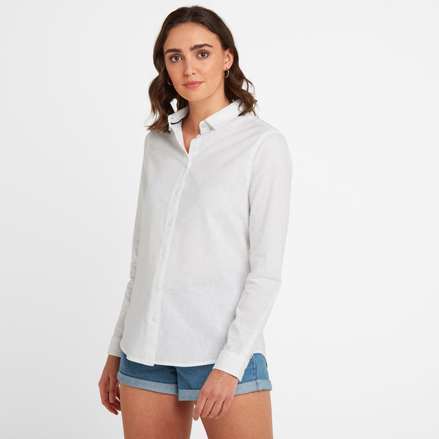 Corsham Womens Long Sleeve Shirt - Optic White image 1