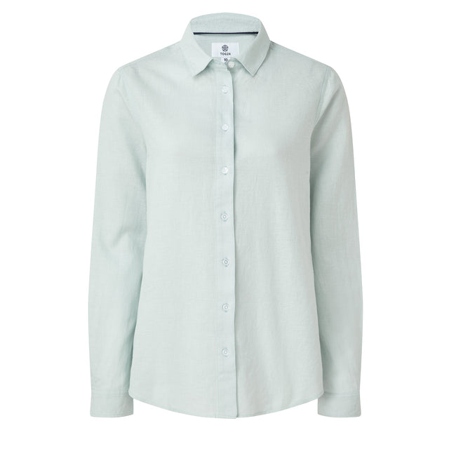 Corsham Womens Long Sleeve Shirt - Ice Blue image 3