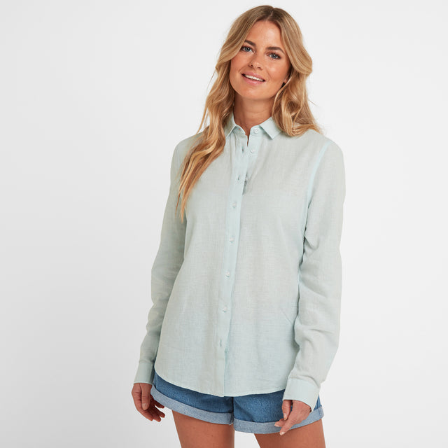 Corsham Womens Long Sleeve Shirt - Ice Blue image 1