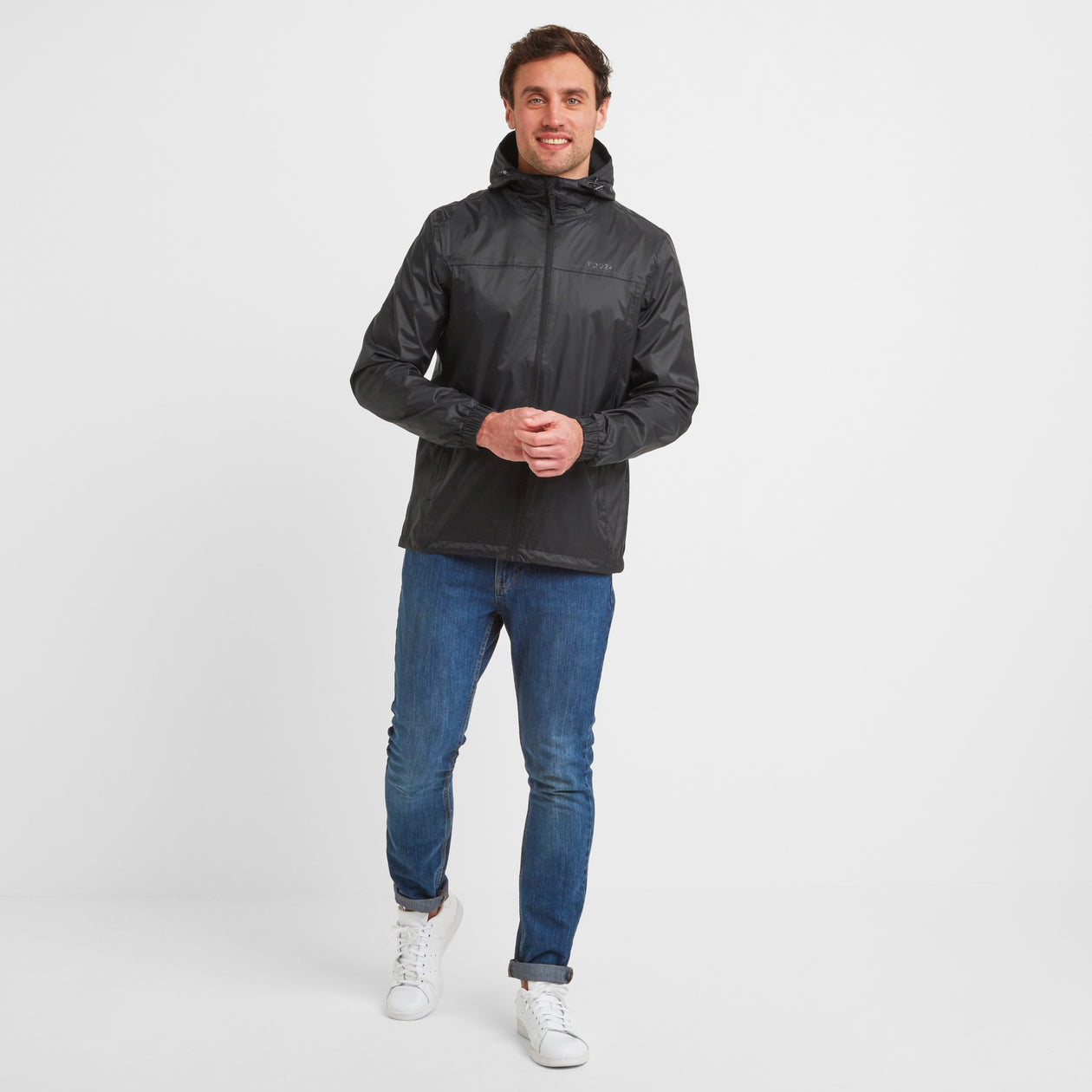 Craven Mens Waterproof Packaway Jacket - Black image 4