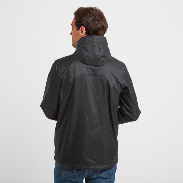 Craven Mens Waterproof Packaway Jacket - Black image 2