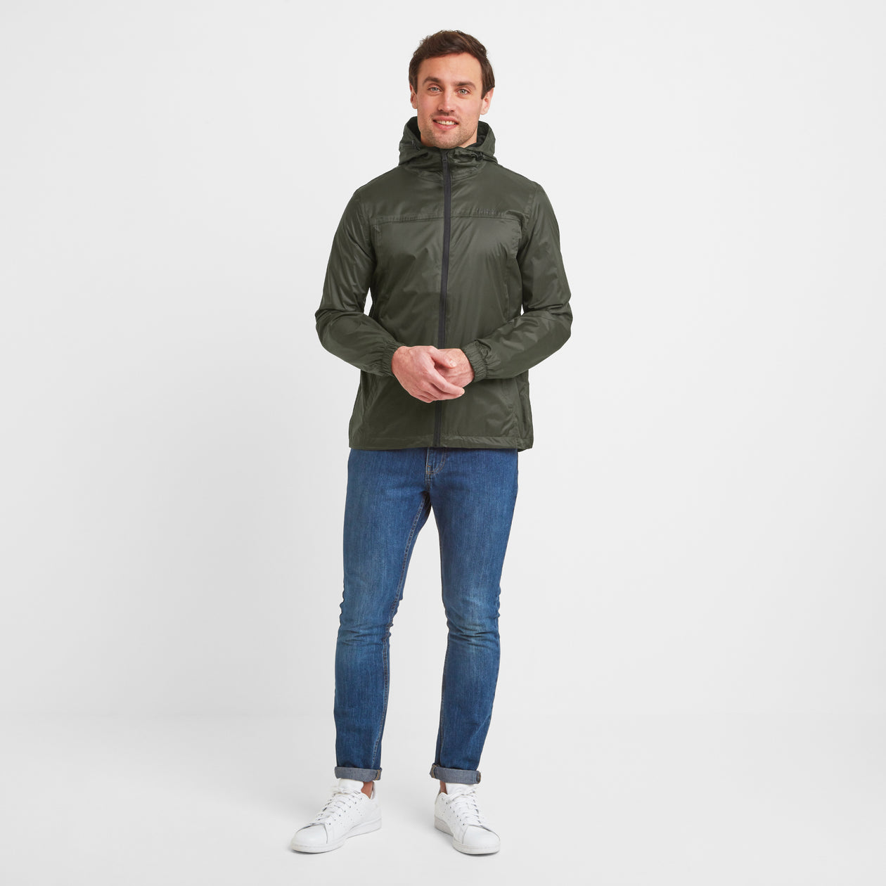 Craven Mens Waterproof Packaway Jacket - Dark Khaki image 4
