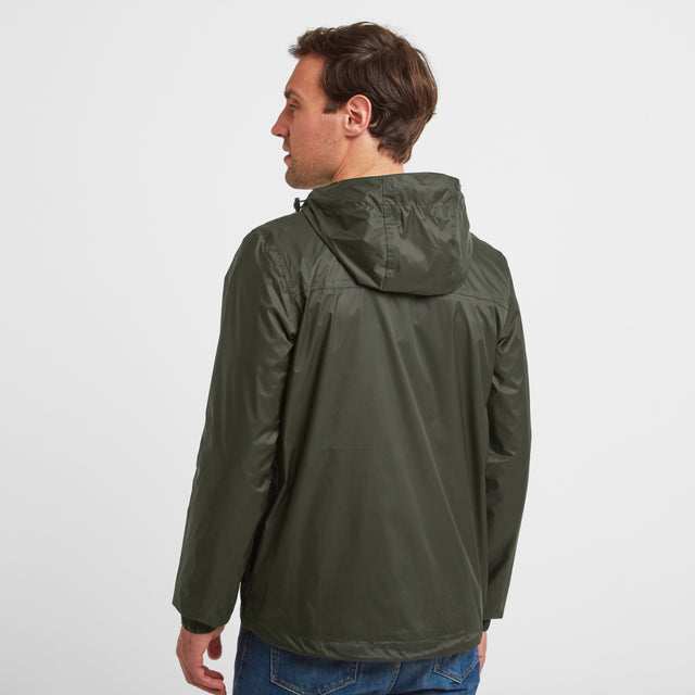 Craven Mens Waterproof Packaway Jacket - Dark Khaki image 3