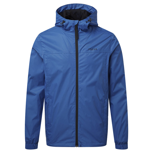 Craven Mens Waterproof Packaway Jacket - Classic Blue image 3