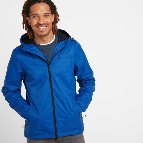 Craven Mens Waterproof Packaway Jacket - Classic Blue