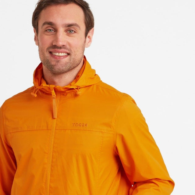 Craven Mens Waterproof Packaway Jacket - Orange Sunset image 1
