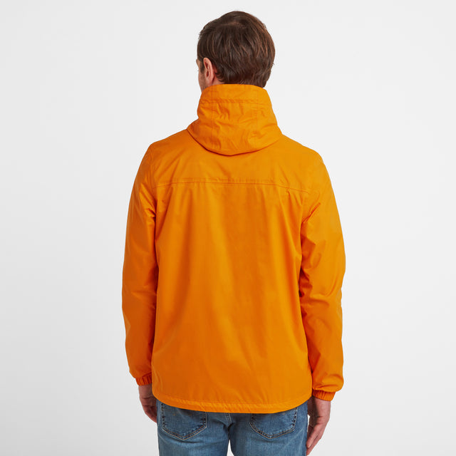 Craven Mens Waterproof Packaway Jacket - Orange Sunset image 3