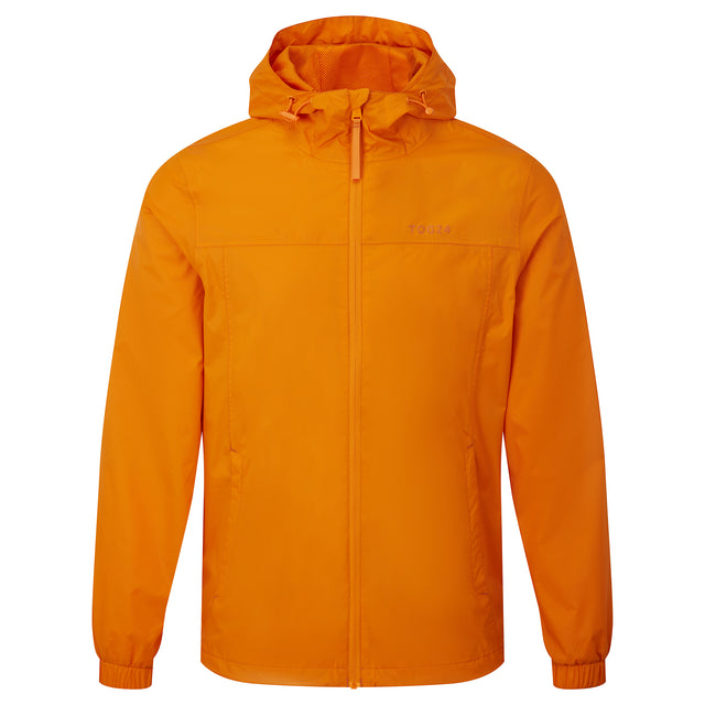Craven Mens Waterproof Packaway Jacket - Orange Sunset image 6
