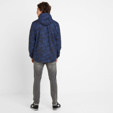 Craven Mens Waterproof Packaway Jacket - Dark Indigo/Digi Camo