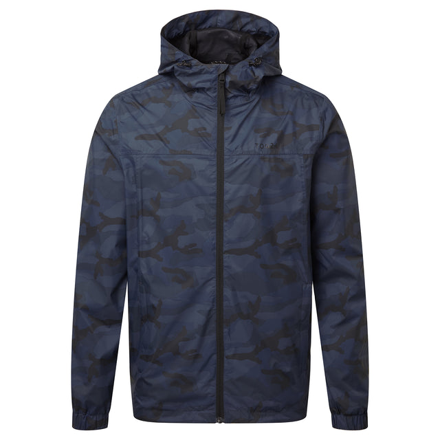 Craven Mens Waterproof Packaway Jacket - Navy/Classic Camo image 3