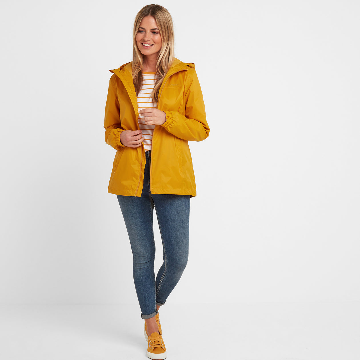 Craven Womens Waterproof Packaway Jacket - Golden Yellow image 4