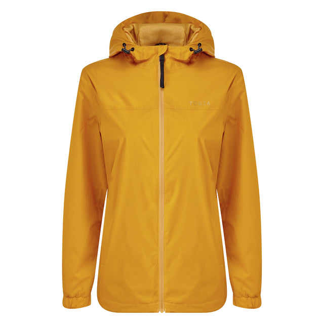 Craven Womens Waterproof Packaway Jacket - Golden Yellow image 3