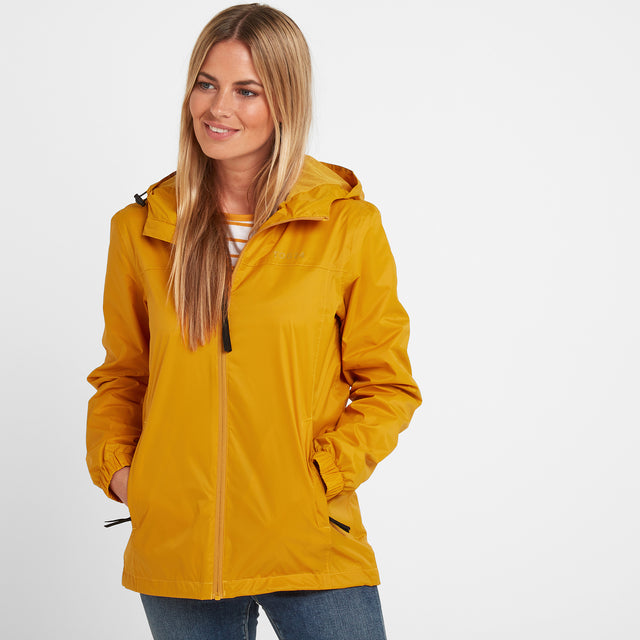 Craven Womens Waterproof Packaway Jacket - Golden Yellow image 1