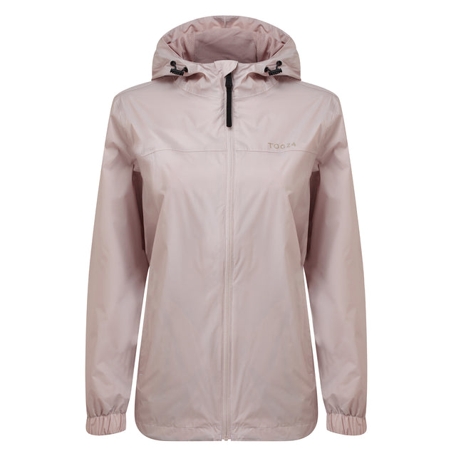 Craven Womens Waterproof Packaway Jacket - Chalk Pink image 3