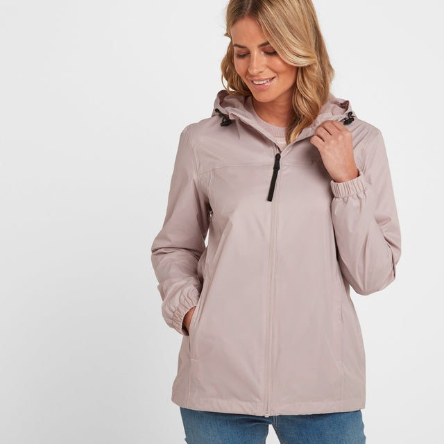 Craven Womens Waterproof Packaway Jacket - Chalk Pink image 1