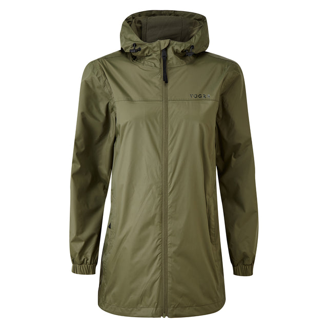 Craven Womens Long Waterproof Packaway Jacket - Light Khaki image 3