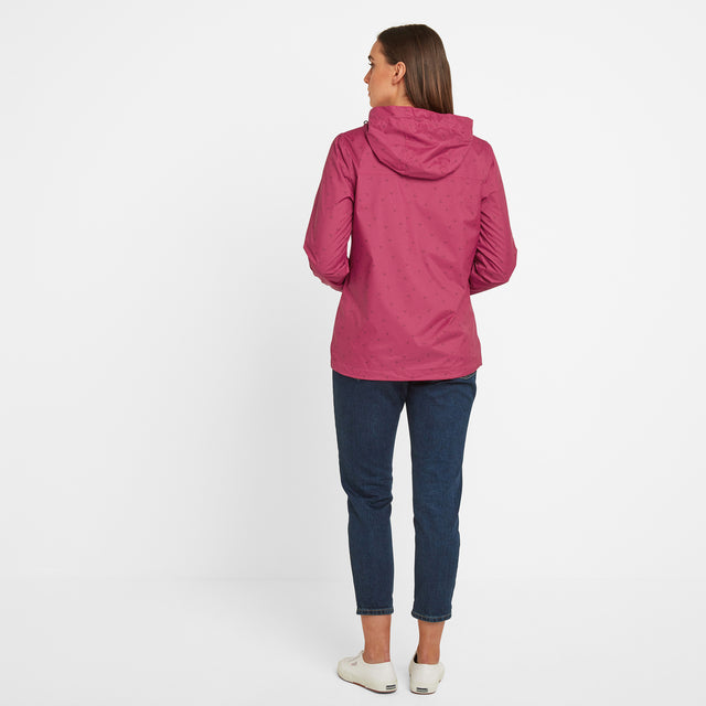 Craven Womens Waterproof Packaway Jacket - Sangria Print image 2