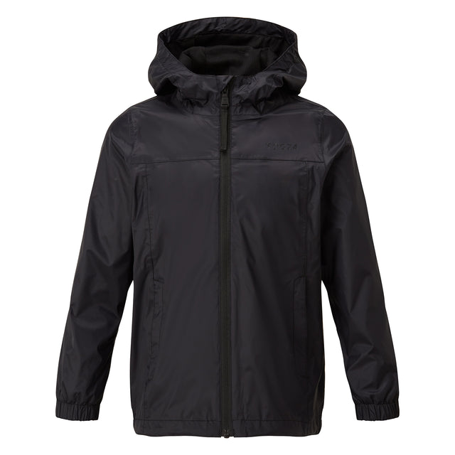 Craven Kids Waterproof Packaway Jacket - Black