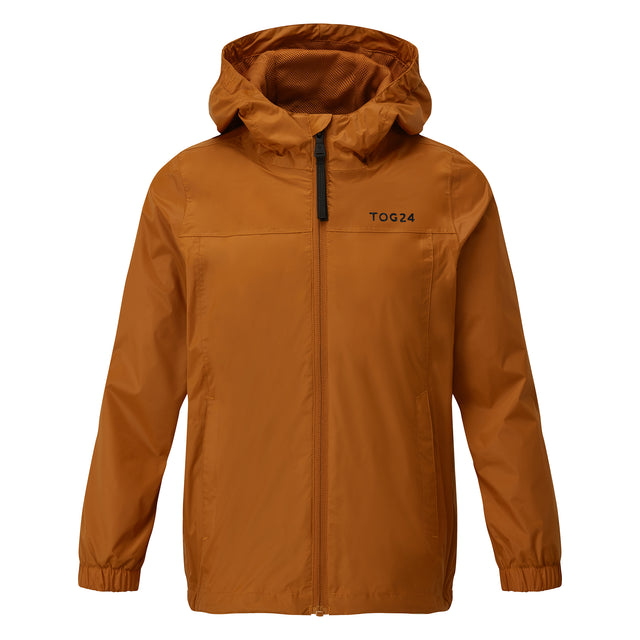 Craven Kids Waterproof Packaway Jacket - Pumpkin
