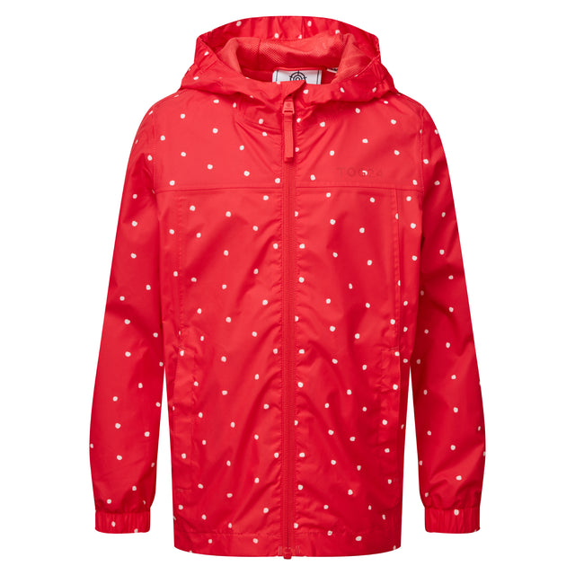 Craven Kids Waterproof Packaway Jacket - Pink Coral Spot